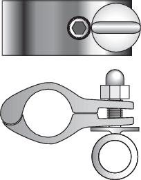 Rörklämma 25mm öppningsbar + öglebult