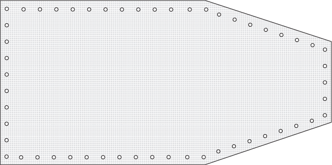 Formskuren presenning 6×10 m 240 g/m2