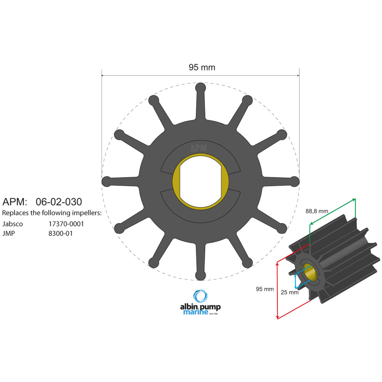 Premium impeller pn 06-02-030