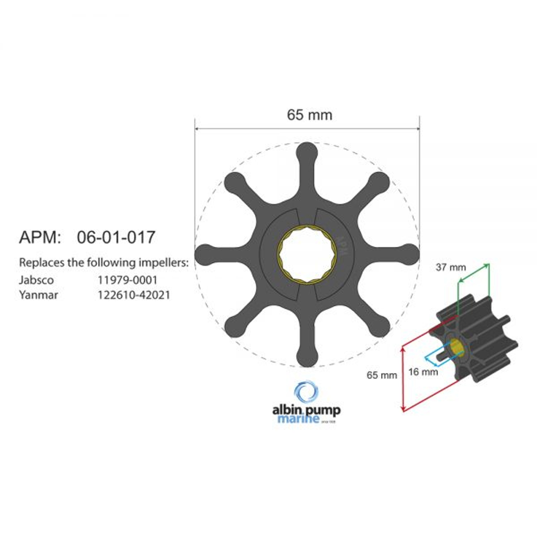 Premium impeller kit pn 06-01-017