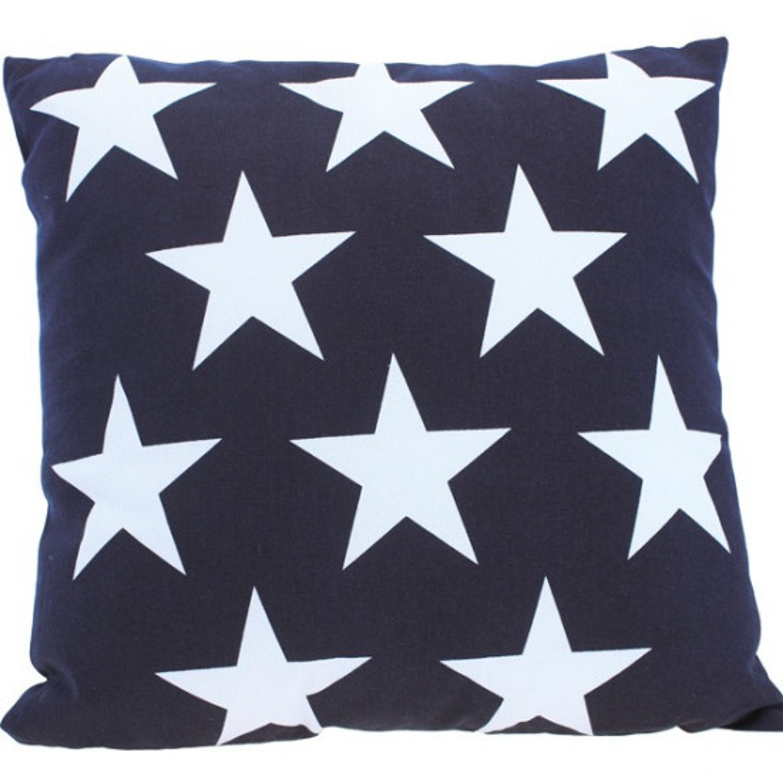 Kudde med stjärna marinblå 40cm 100%bomull