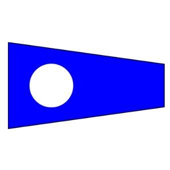 Signalflagga 30 cm siffra 2