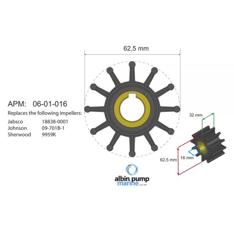 Premium impeller kit pn 06-01-016