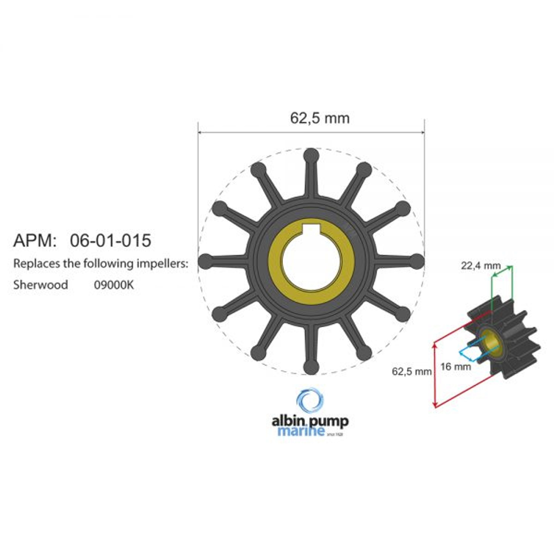 Premium impeller kit pn 06-01-015