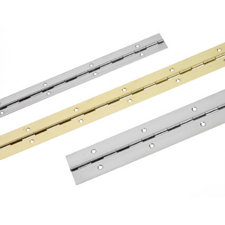 Pianogångjärn pol. mässing 1000×32 mm