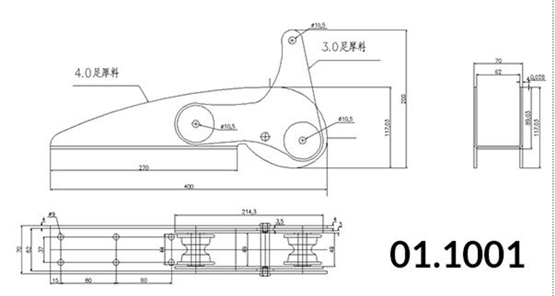 1852 ankarrulle aisi 316 max 15 kg ankare l-400 mm