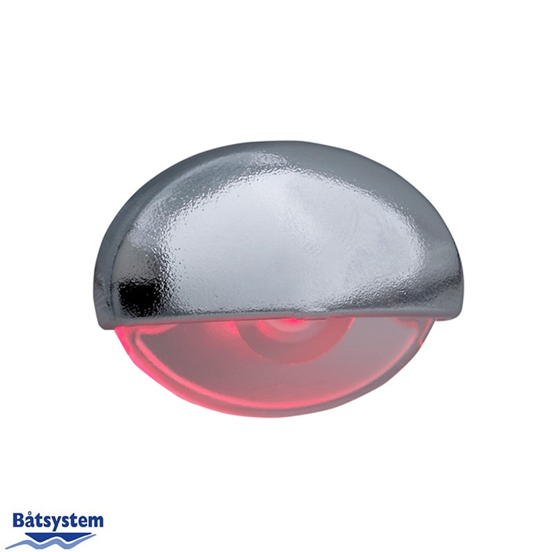 Steplight led krom rött ljus ip66