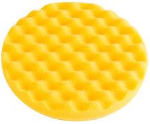 Polierschwamm Waffelmuster, gelb
