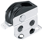 Dekksblokk 29 mm, Bullet stående, wire