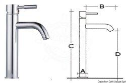 Pentry/toalettkran, hög