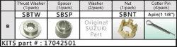 Propel møtrik kit, Suzuki 20-30 hk