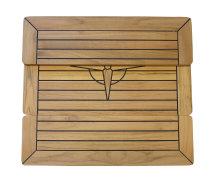 Teakbord, foldbar bordplade