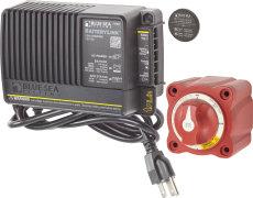 Batterilader + Hovedstrømafbryder
