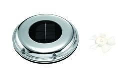 Solcelleventilator i rustfri stål, 217mm