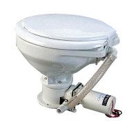 Toalett med elpump