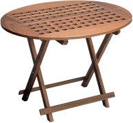 Laskettava, soikionmuotoinen pöytä