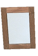 Spegel med teakram