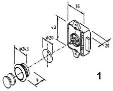 Trykklås - Liten modell