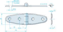Scharnier 106x28mm