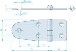 Scharnier 100x40 mm