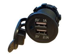 USB uttak dobbel